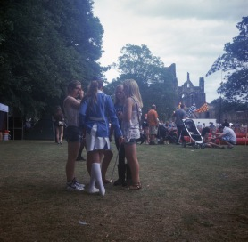 A series of images, captured on a 1930's Voigtlander Brilliant at the 30th Anniversary of Kirkstall Festival (Leeds, UK)
