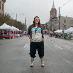 Laura is a power-house; driving small business, accounting guru and the genius behind Kluster - her own line of jewellery she also finds time to help drive the NuLu district forward; I met her as that year's Nulufest organiser. I called her crazy :-)